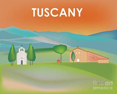 Tuscany, Italy Horizontal Scene Poster