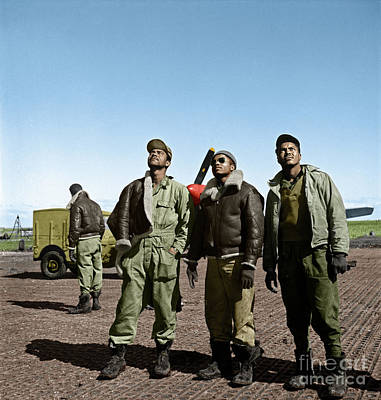 Poster featuring the photograph Tuskegee Airmen by Granger