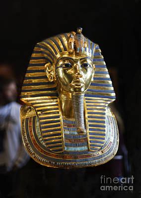 Tutankhamun's Magnificent Golden Death Mask. Poster by Mohamed Elkhamisy