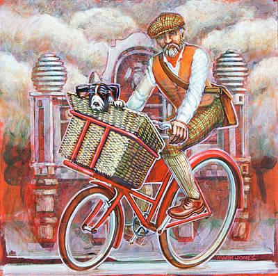 Tweed Runner On Red Pashley Poster by Mark Howard Jones