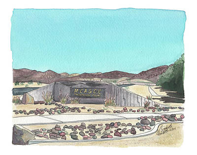Poster featuring the painting Twentynine Palms Welcome by Betsy Hackett