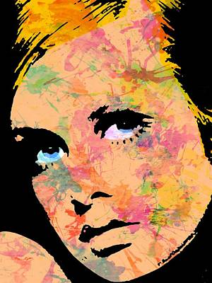 Twiggy-3 Three Poster by Otis Porritt