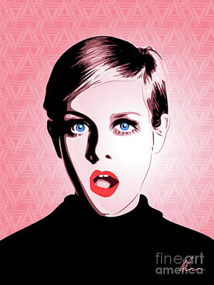 Twiggy - Pop Art - Digital Art Poster