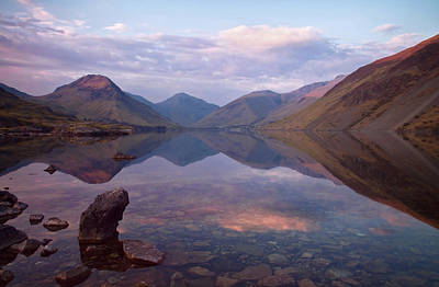 Twilight At Wastwater In Cumbria Poster
