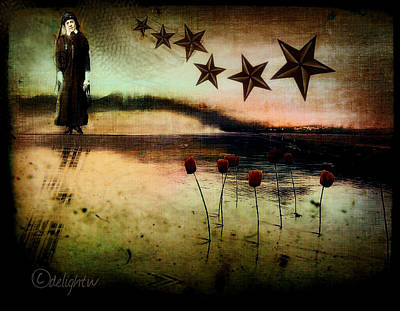 Poster featuring the digital art Twilight by Delight Worthyn