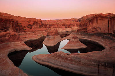 Poster featuring the photograph Twilight Glow In Reflection Canyon, Lake Powell, Utah. by Johnny Adolphson