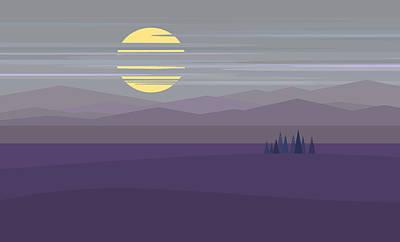 Twilight Hue - Big Moon Poster