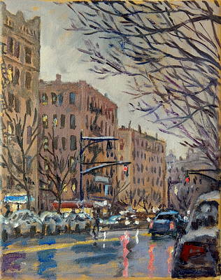 Twilight On Broadway New York City Poster by Thor Wickstrom