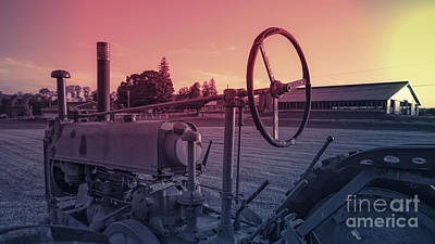 Twilight On The Farm Poster by Edward Fielding