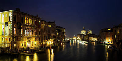 Twilight Over The Grand Canal Poster by Andrew Soundarajan
