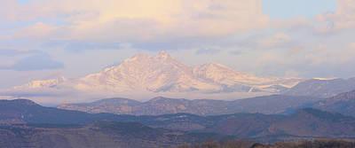 Twin Peaks Meeker And Longs Peak Panorama Color Image Poster
