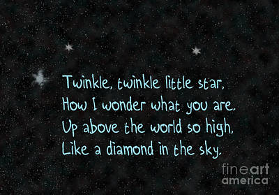 Twinkle Twinkle, Little Star Poster by Humorous Quotes
