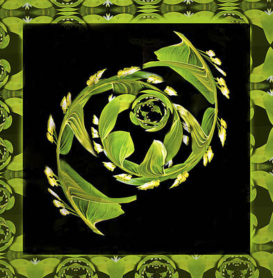 Twisted Lilly Of The Valley By Jean Noren Poster by Jean Noren