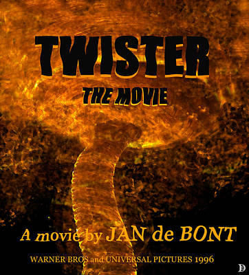 Twister Retro Movie Poster Poster by David Lee Thompson