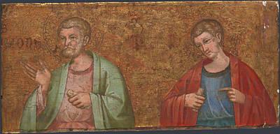Two Apostles   Fragment Of Predella   Poster by Dalmatian