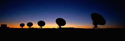 Two Arraysatellite Dishes In Different Poster by Panoramic Images