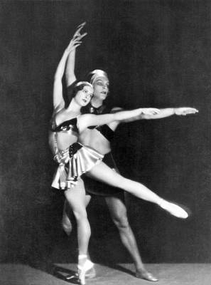 Two Ballet Dancers Poster by Underwood Archives