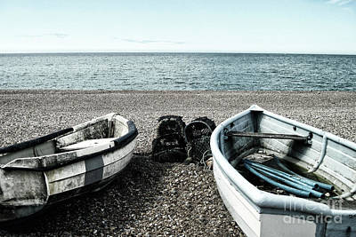 Two Boats On Seaford Beach Poster