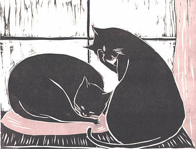 Two Cats Poster by Mui-Joo Wee