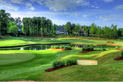 Two Holes In One The Landing Reynolds Plantation Art Poster