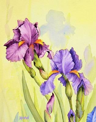 Two Irises  Poster