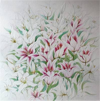Two Kinds Of Lilies Poster
