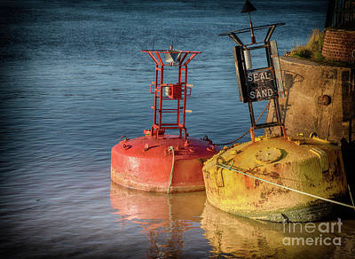 Two Old Sea Buoys Poster