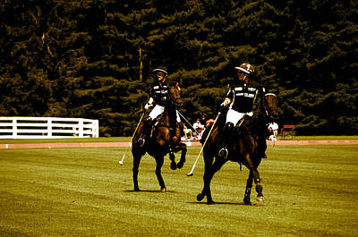 Two Polo Players Poster