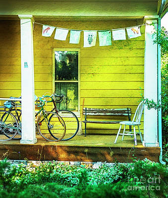 Poster featuring the photograph Two Porch Bicycles by Craig J Satterlee