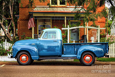 Poster featuring the photograph Two Tone Blue Truck by Craig J Satterlee