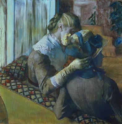 Two Women Poster by Edgar Degas