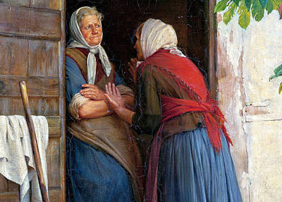 Two Women Talking Poster by Carl Heinrich Bloch