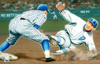Ty Cobb Coming In Hot Poster by Robert Williams