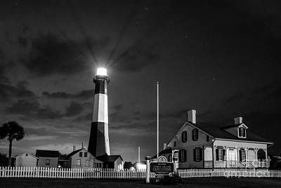 Tybee Black And White Poster