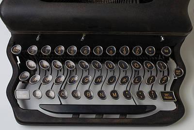Typewrter Wavy Keys Poster by Garry Gay
