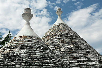 Typical Conical Roofs Of Trulli Houses In Alberobello, Apulia, I Poster by Luigi Morbidelli