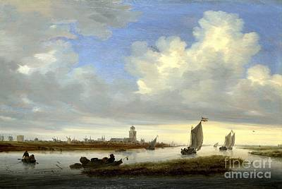 typical View of Deventer Seen from the North-West Poster by Celestial Images