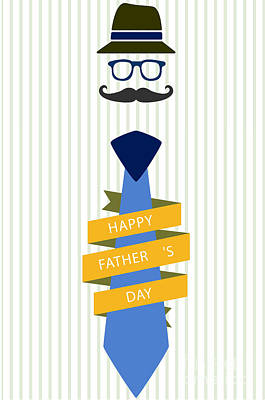Typography Poster - Happy Father's Day Poster by Celestial Images