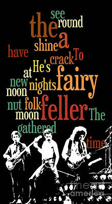 Typography. The Fairy Feller's Master-stroke. Game For Music Fans. Conversation Starter. Poster by Pablo Franchi