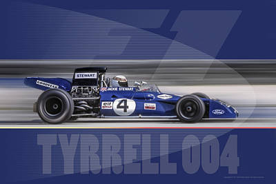 Tyrrell 004 Poster