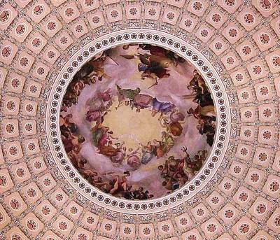 U S Capitol Dome Mural # 3 Poster