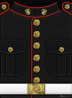 U S M C Dress Uniform Poster