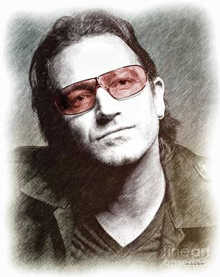 U2's Bono Poster