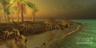 Uberabatitan Dinosaurs Poster