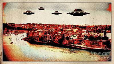 Ufo Invasion Pop Art By Raphael Terra Poster