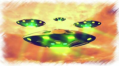 Ufo Variations By Rt Poster by Raphael Terra