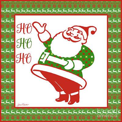 Ugly Christmas Sweater Santa-a Poster