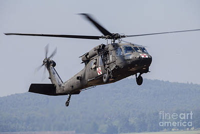 Uh-60a Black Hawk Medevac Helicopter Poster by Timm Ziegenthaler
