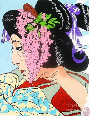 Poster featuring the painting Ukiyo Sekai Ichi  by Roberto Prusso