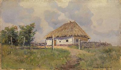 Ukrainian Hut On A Hill Poster